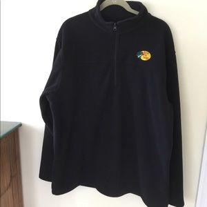 Bass Pro Shop men's navy  fleece 1/4 zip. XL
